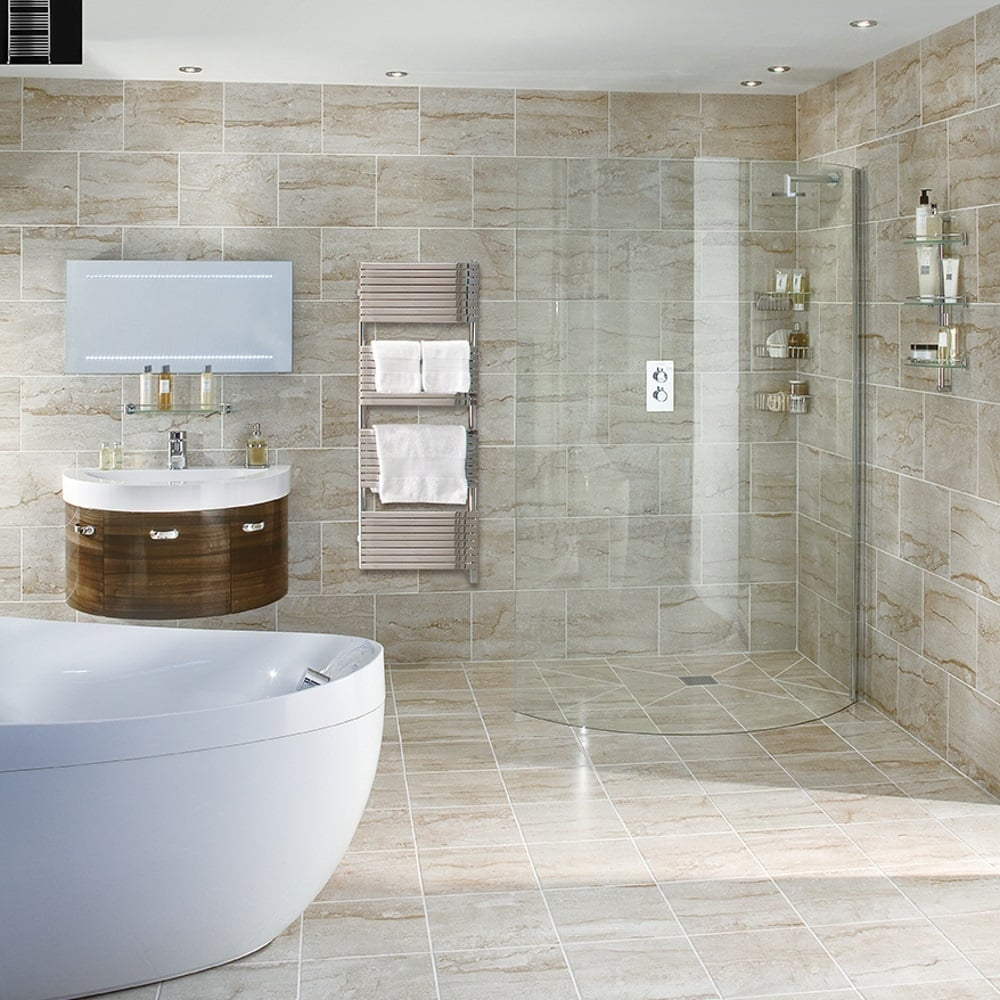 Aqata Spectra SP390 Corner Curved screen Walk In Shower Door