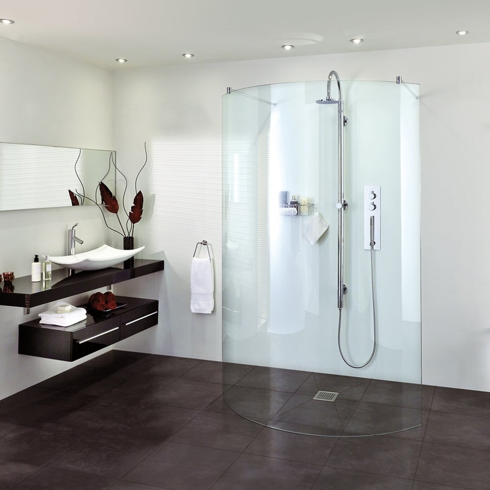 Aqata Spectra SP395 Double Entry Curved Screen Walk In Shower Enclosure
