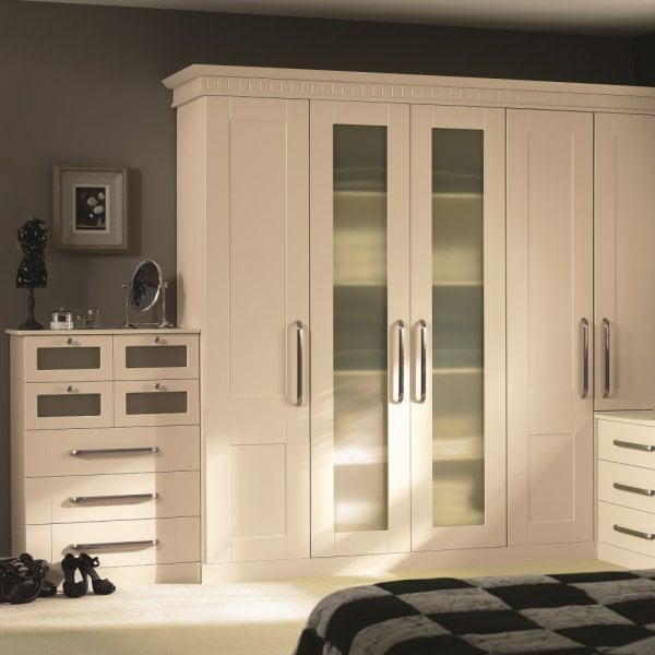 f7340ed86 Bella by BA Warwick fitted bedroom Wardrobes storage Ivory Darlington
