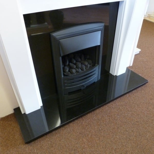 Chinese Granite 37 Inch Back Panel And 54 Inch Hearth Set