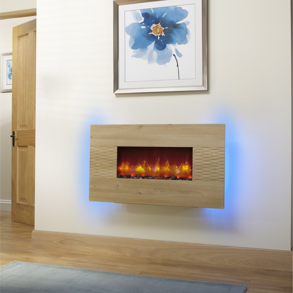 Essential Fireplaces Deluxe 36 Inch Wall Mounted Electric
