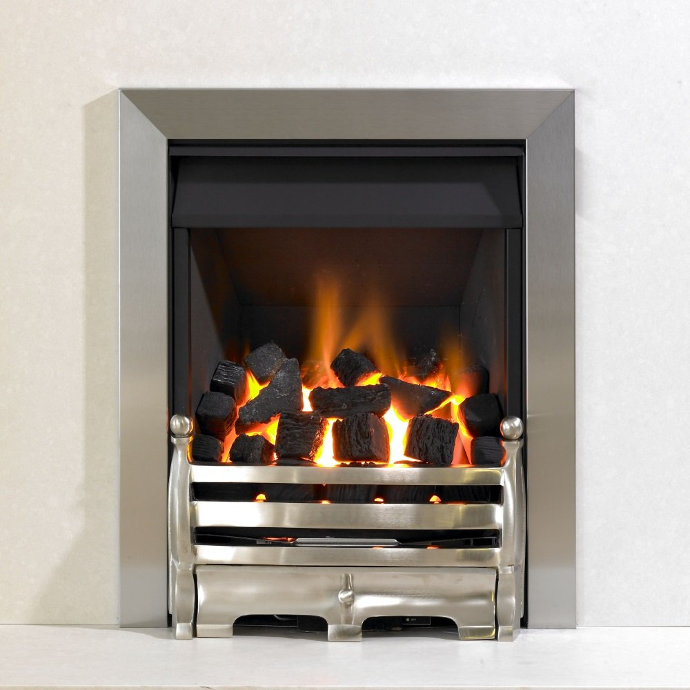Brison Fireplaces Kinetic Inset Open Fronted Coal Manual Control Gas Fire Class 1 With Daisy