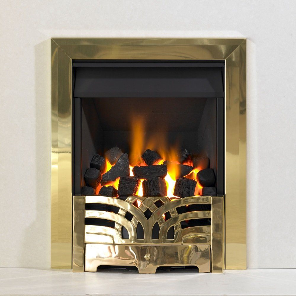 Kinetic Inset Open Fronted Manual Control Gas Fire Class 1 With Arc Front And Single Frame