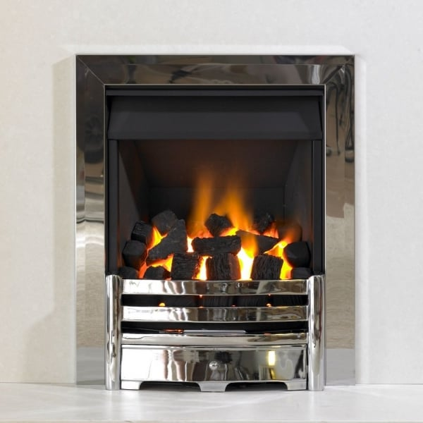 Kinetic Inset Open Fronted Slide Control Gas Fire Class 1 With Aviva Front And Single Frame
