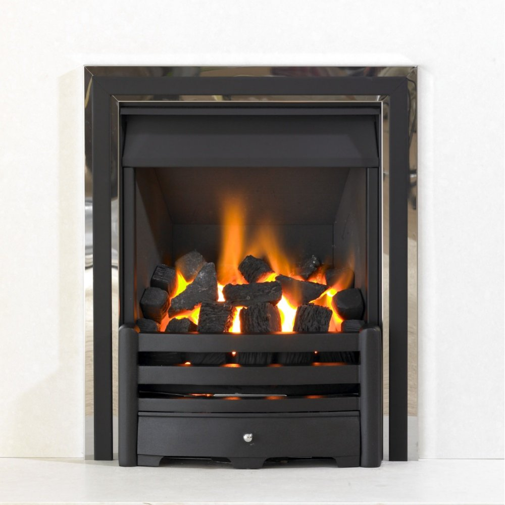 Kinetic Inset Open Fronted Slide Control Gas Fire Class 1 With Aviva Front With Duo Inner Frame