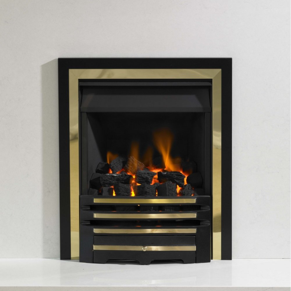 Kinetic Inset Open Fronted Slide Control Gas Fire Class 1