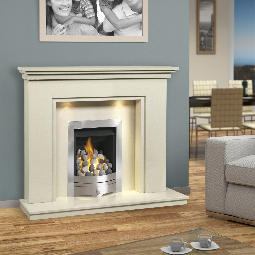 Brison Fireplaces Scotton 48 Inch Traditional Marble