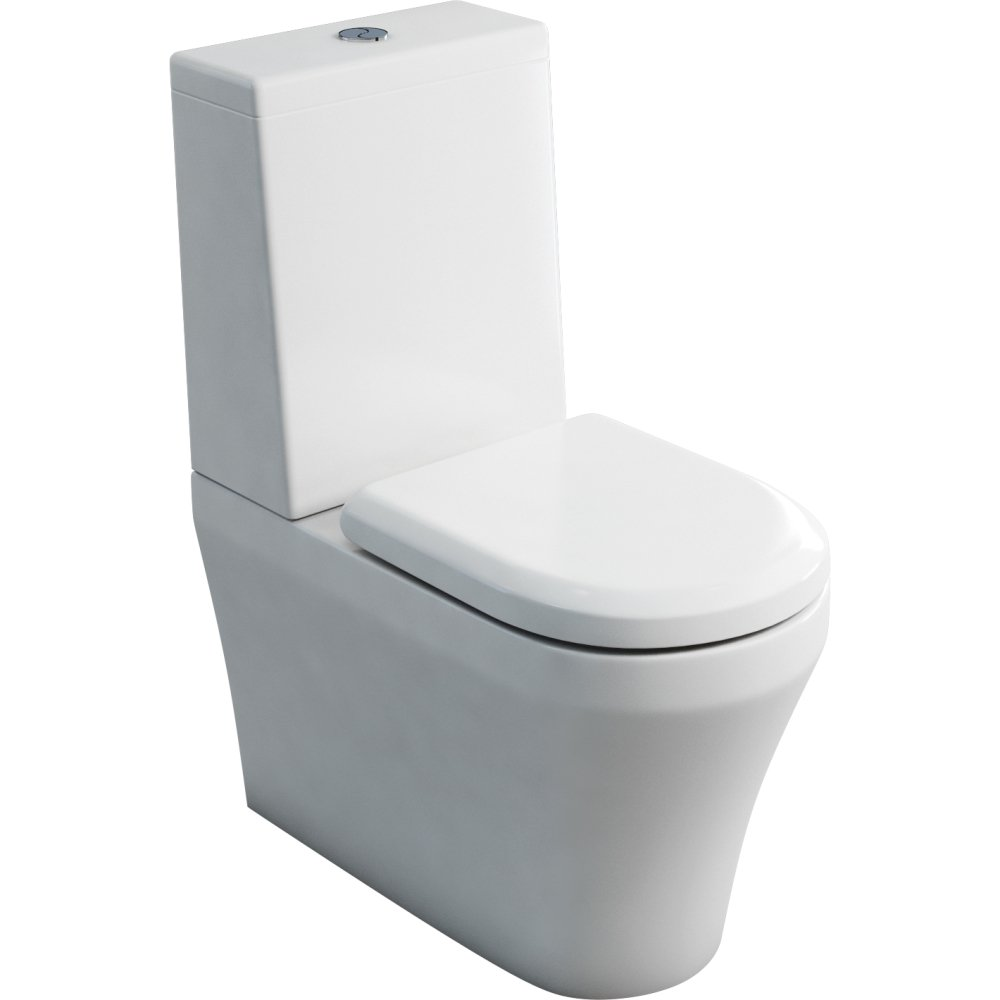 Fine Close Coupled Closed Back Pan Standard Cistern And