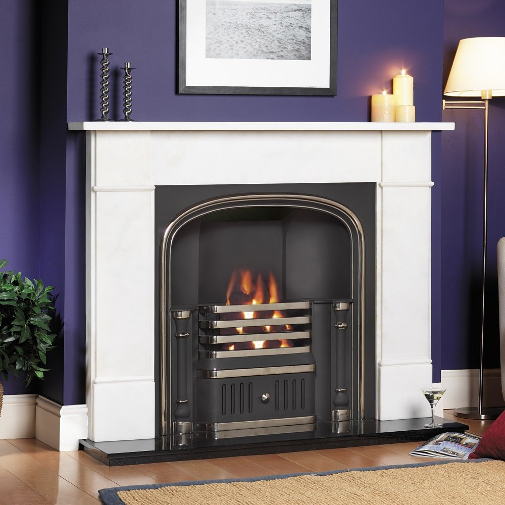 Cast tec westminster hob cast insert for solid fuel with fireback cast tec from homecare - Firebacks for fireplaces ...