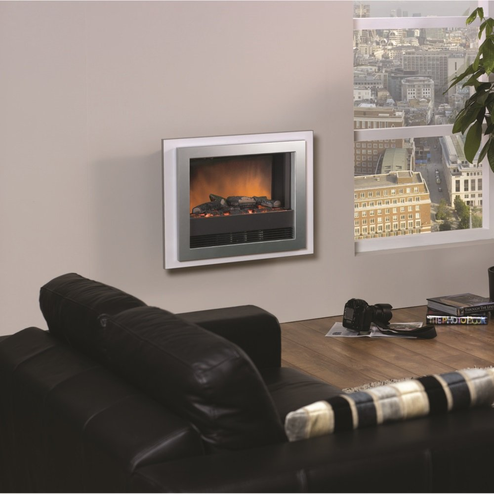 Dimplex Bizet Wall Mounted Electric Fire Black Or White
