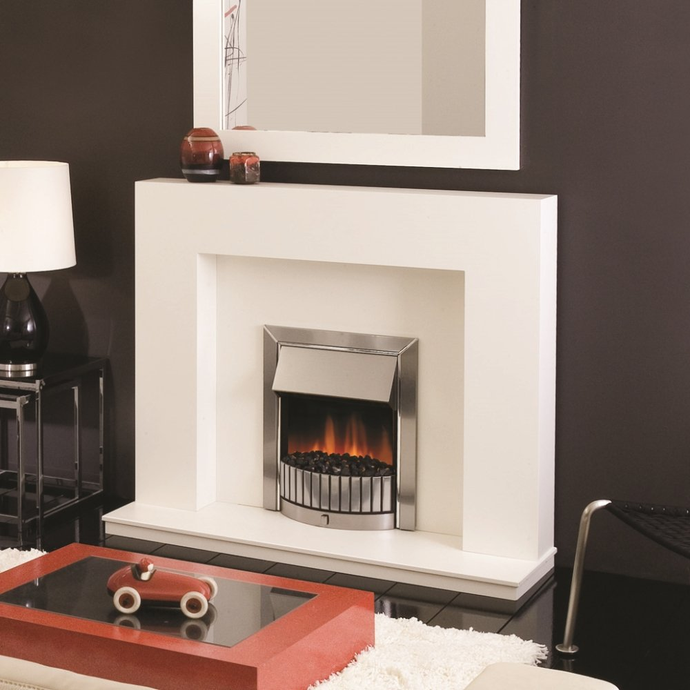 Dimplex Delius Led Electric Fire In Stainless Steel And Chrome Dls20 027207