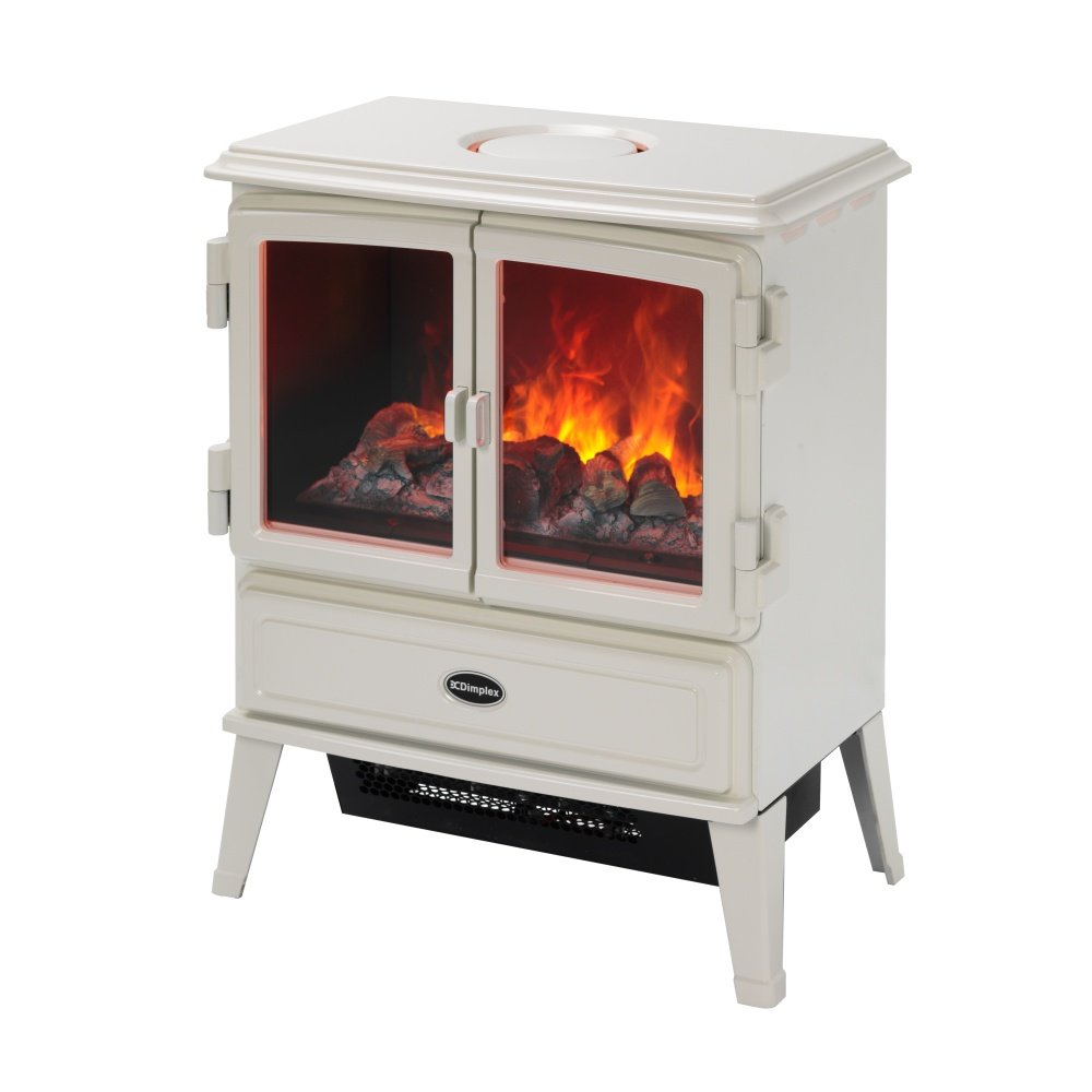 Dimplex Electric Stoves ~ Dimplex auberry opti myst electric stove in white aub