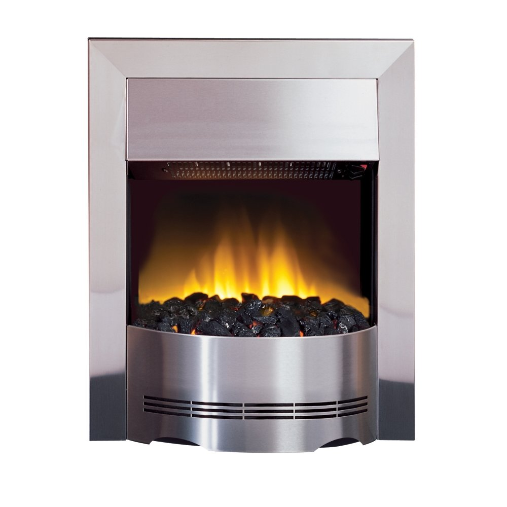 Dimplex Elda Led Electric Fire In Brushed Stainless Steel Eld20 017291