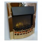 Wesley Inset Supereco Electric Fire WES20BRSCLE -  Brass Finish