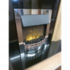 Wesley Inset Supereco Electric Fire WES20CHSCLE - Chrome Finish