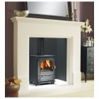 Highlander 5 Multifuel / Woodburning 340 Short Leg Stove Matt Black With Brass Handle *RING FOR BEST PRICE*