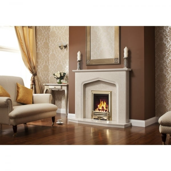 Elgin and hall aurelia 52 tudor style quality marble for Tudor style fireplace