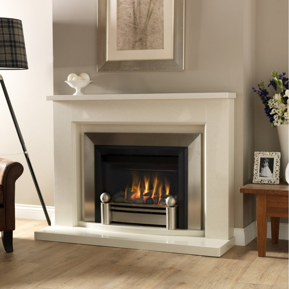 Starbeck 56 Inch Traditional Marble Fireplace In Rigel No