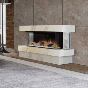 Evonic Halo Kalmar RGB LED Flame Effect Electric Fire