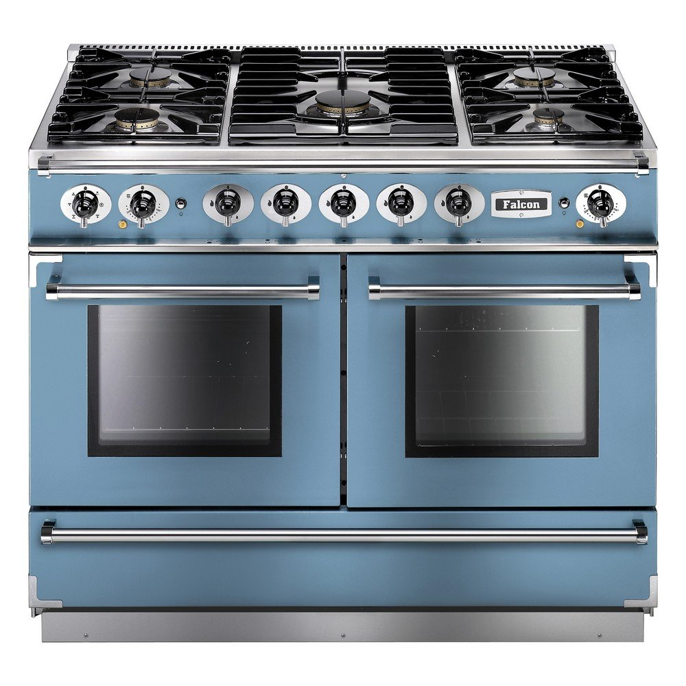 1092 continental dual fuel range cooker fcon1092dfca nm eu china blue with brushed chrome trim. Black Bedroom Furniture Sets. Home Design Ideas
