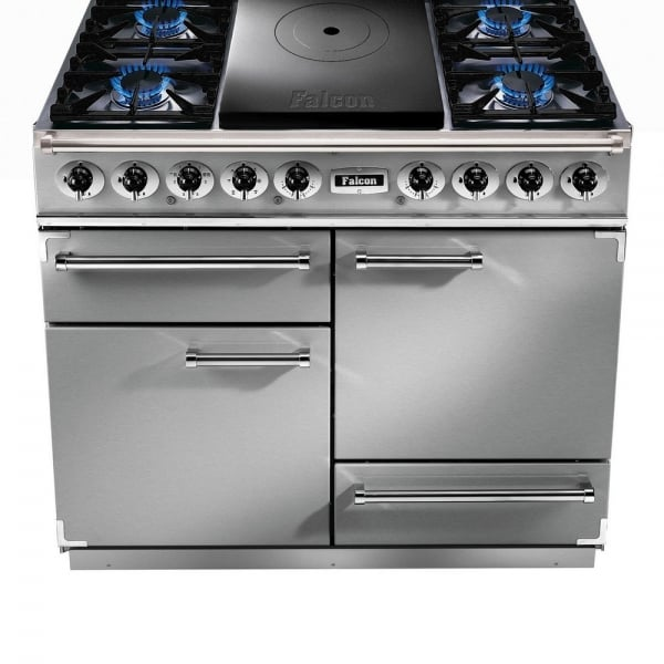 1092 deluxe ct dual fuel range cooker fct1092dfss cm stainless steel with chrome trim. Black Bedroom Furniture Sets. Home Design Ideas