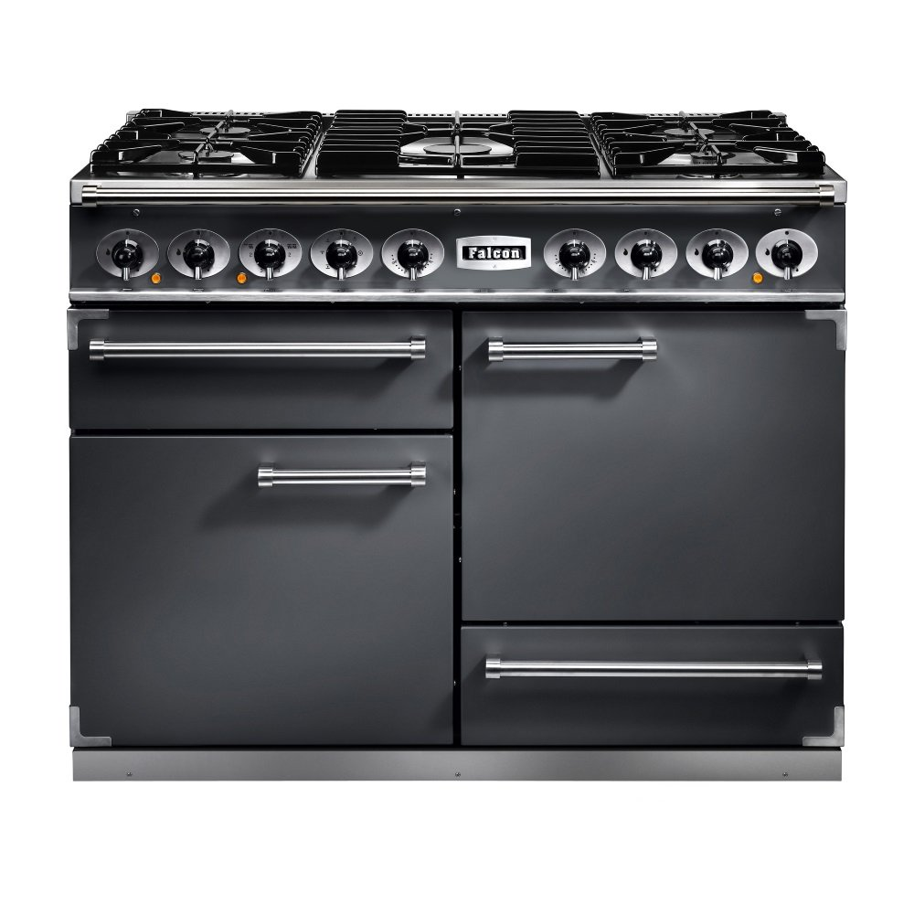 1092 deluxe dual fuel range cooker f1092dxdfsl nm slate with brushed chrome trim with matt pan. Black Bedroom Furniture Sets. Home Design Ideas