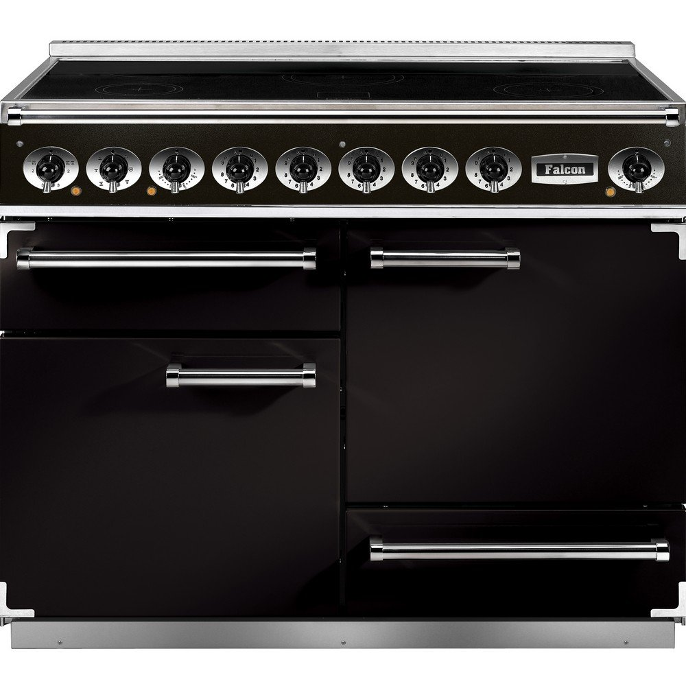 1092 deluxe induction range cooker f1092dxeibl b eu black with brass trim. Black Bedroom Furniture Sets. Home Design Ideas