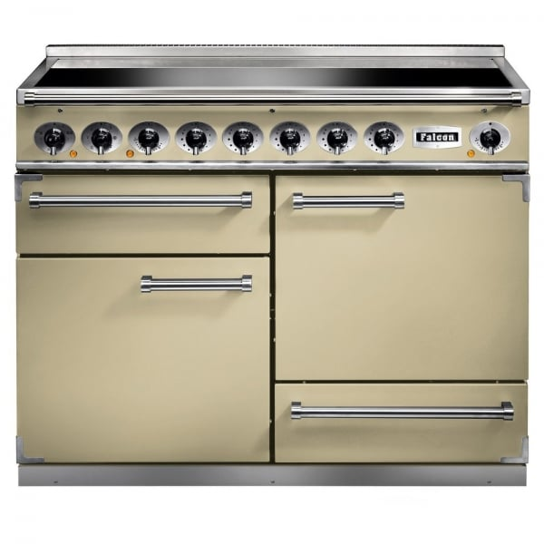 1092 deluxe induction range cooker f1092dxeicr c eu cream with chrome trim. Black Bedroom Furniture Sets. Home Design Ideas