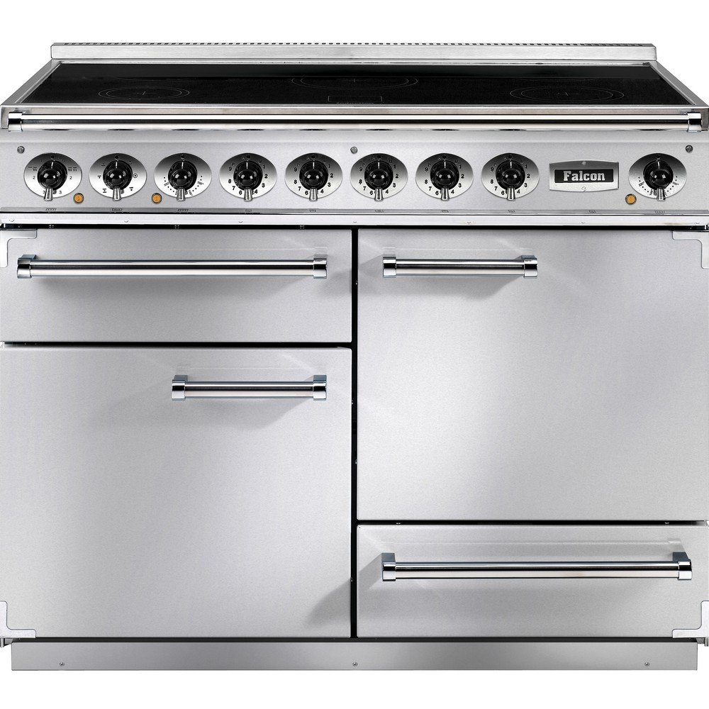 1092 deluxe induction range cooker f1092dxeiss c eu stainless steel with chrome trim. Black Bedroom Furniture Sets. Home Design Ideas
