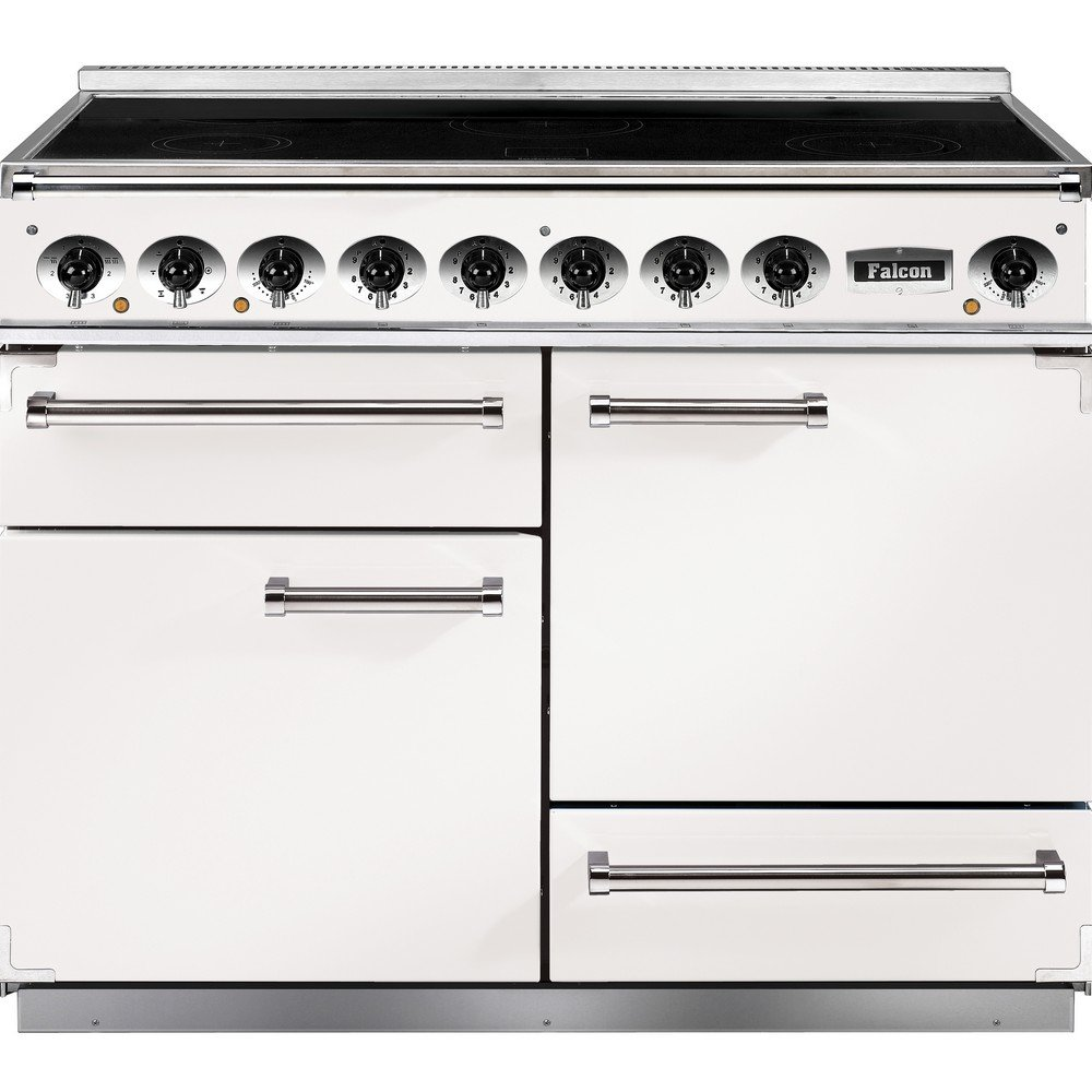 1092 deluxe induction range cooker f1092dxeiwh n eu ice white with brushed chrome trim. Black Bedroom Furniture Sets. Home Design Ideas