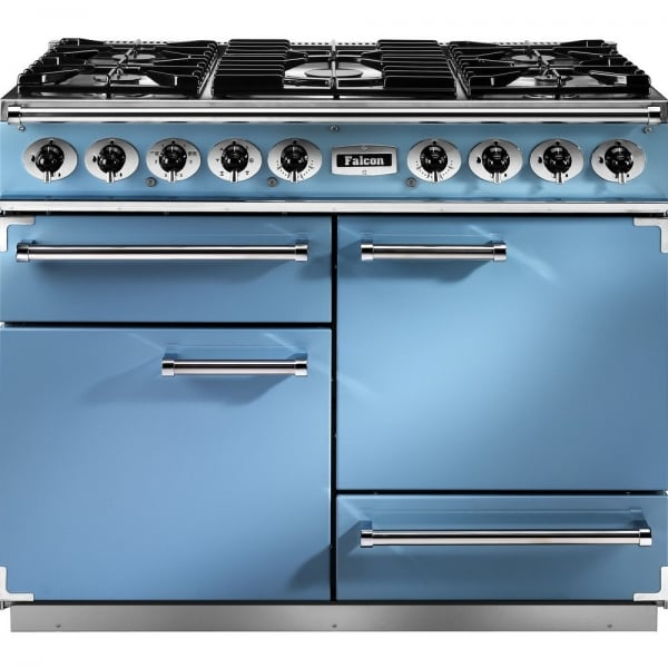 falcon range cookers 1092 deluxe dual fuel range cooker f1092dxdfca ng china blue with brushed. Black Bedroom Furniture Sets. Home Design Ideas