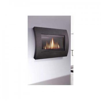 Flavel Curve Wall Mounted Gas Fire Black Discontinued