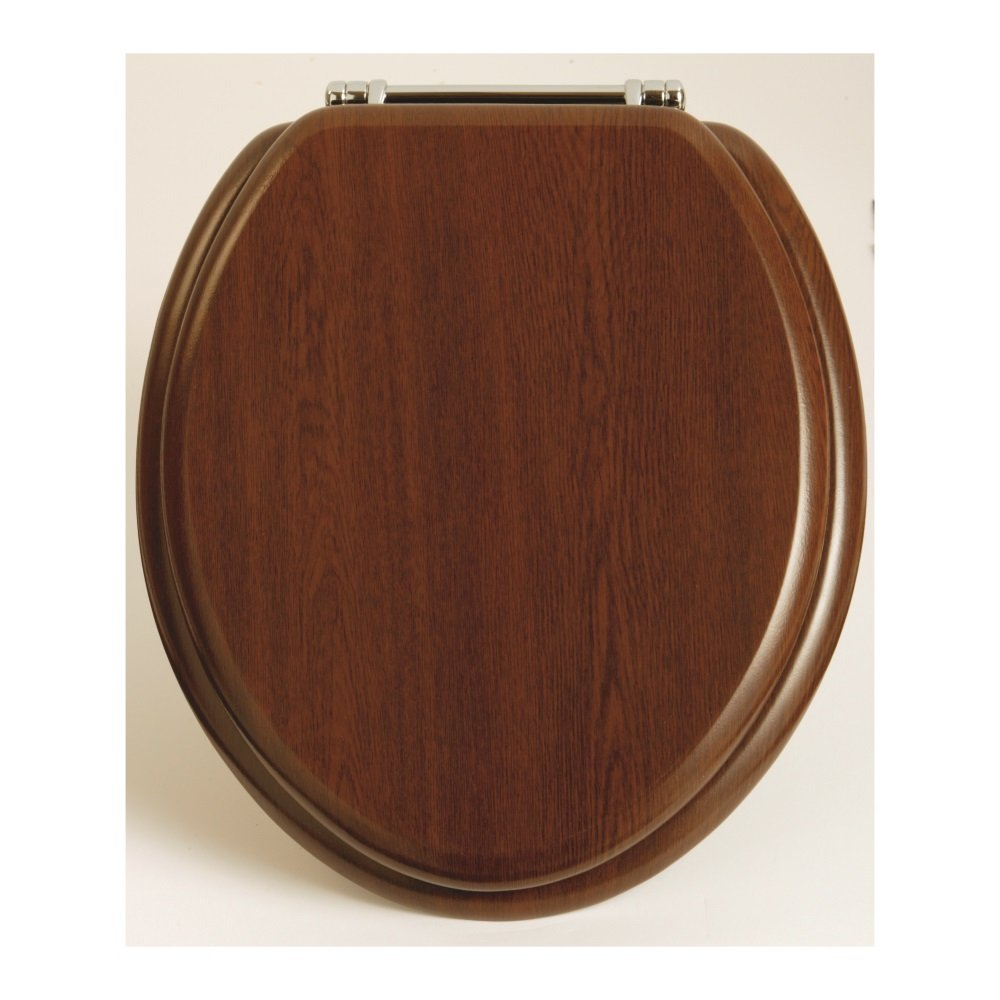 heritage toilet seat in walnut