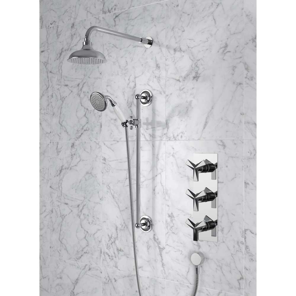 Hemsby Thermostatic Shower SHPDUAL03 Recessed Valve with twin ...