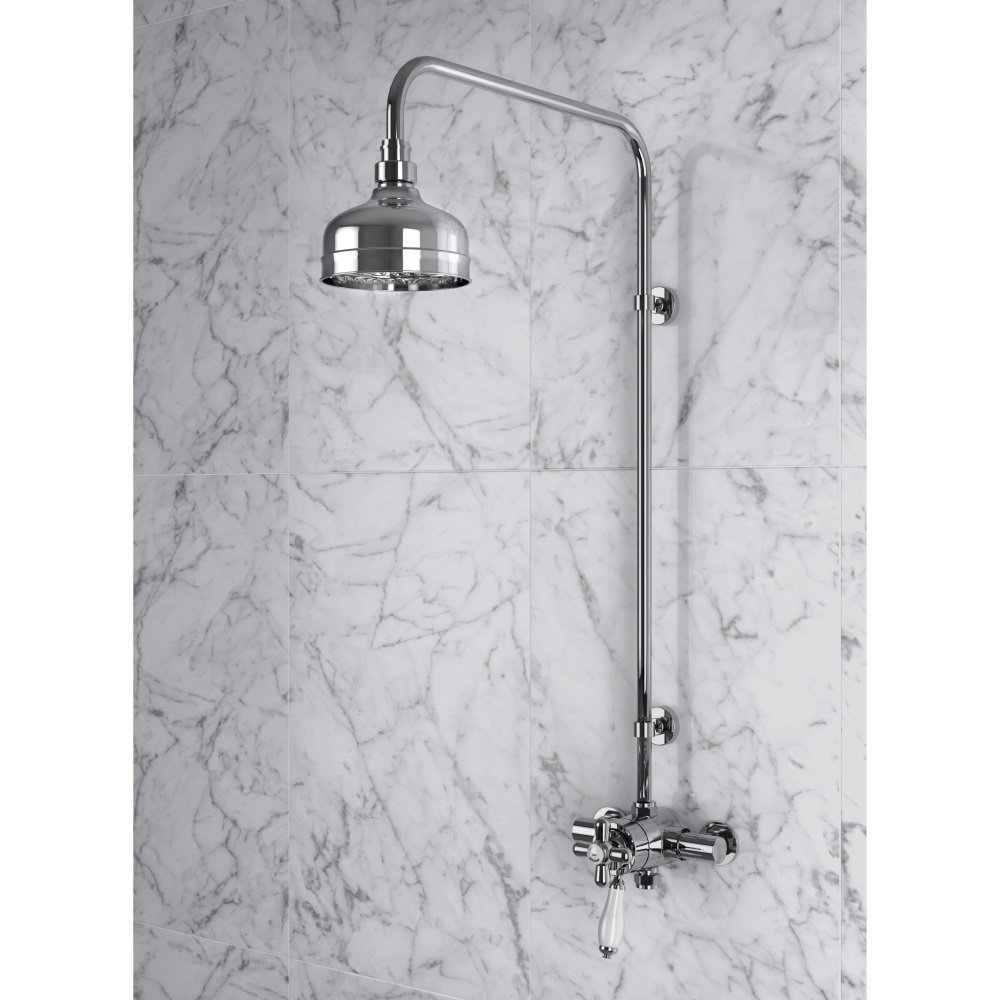 Ryde Thermostatic Shower Valve with fixed kit in Gold SLCDUALMIN03