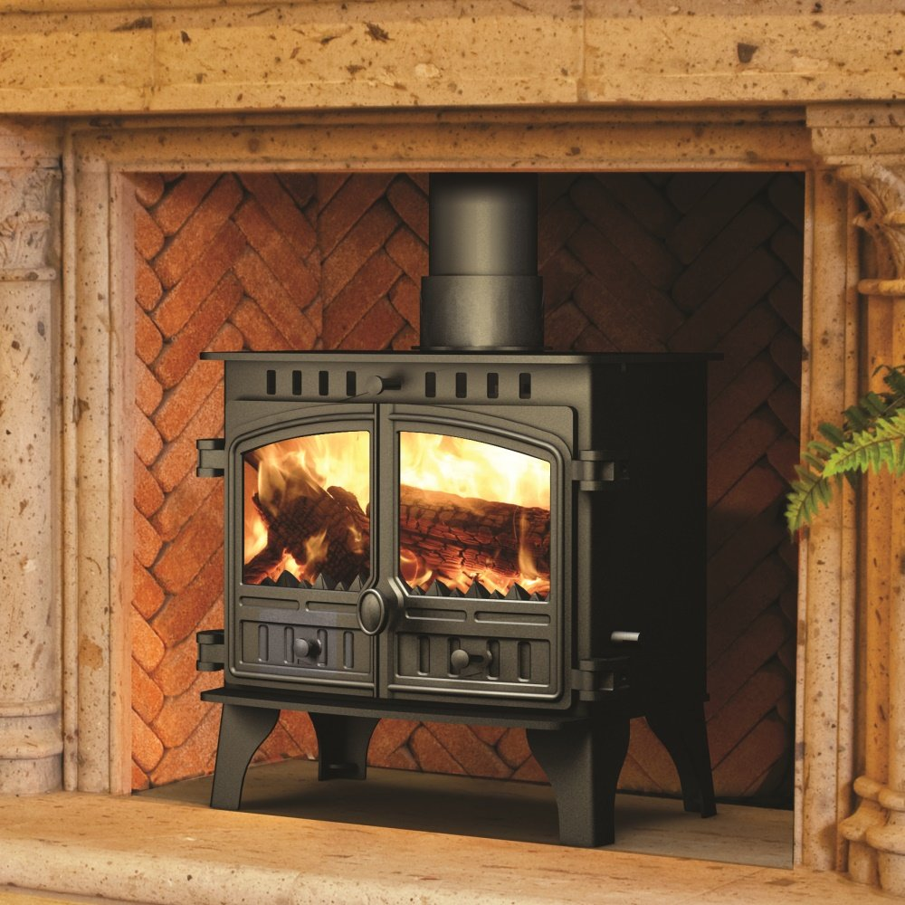 Herald 8 Multifuel Wood Burning Stove Central Heating Boiler