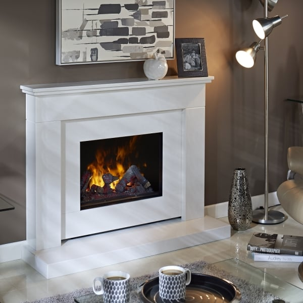 Bali Marble Fireplace With Opti Myst Electric Fire Darlington Showroom