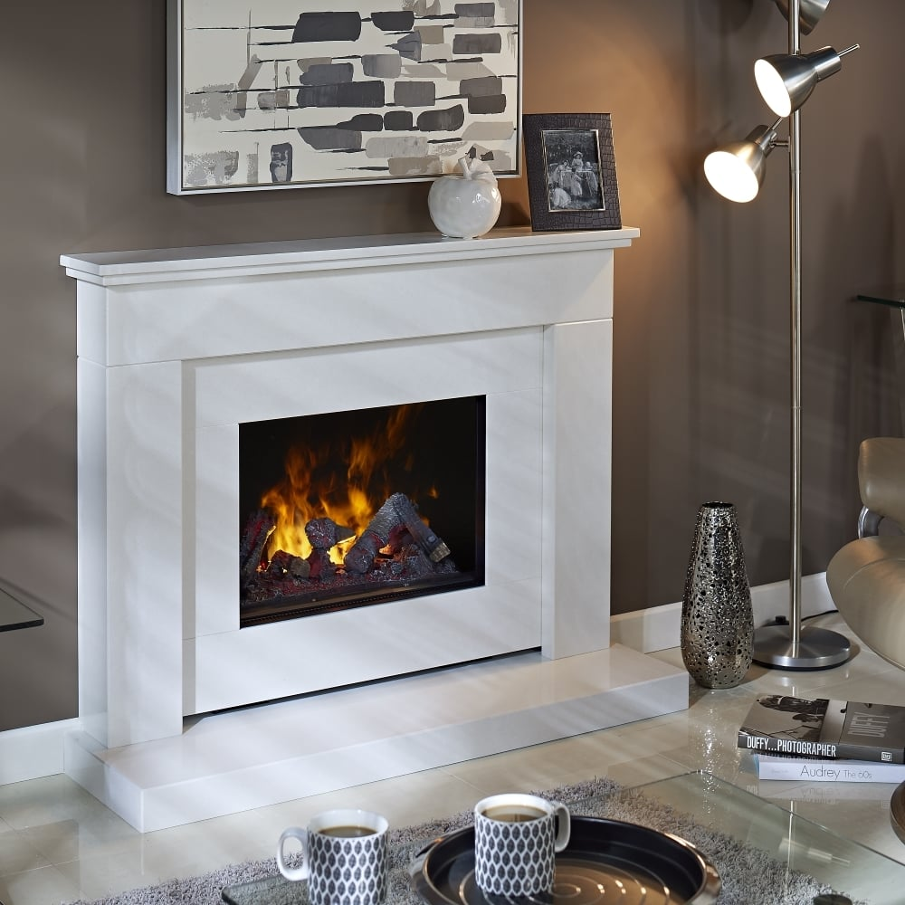 Bali Marble Fireplace with Opti-Myst Electric Fire