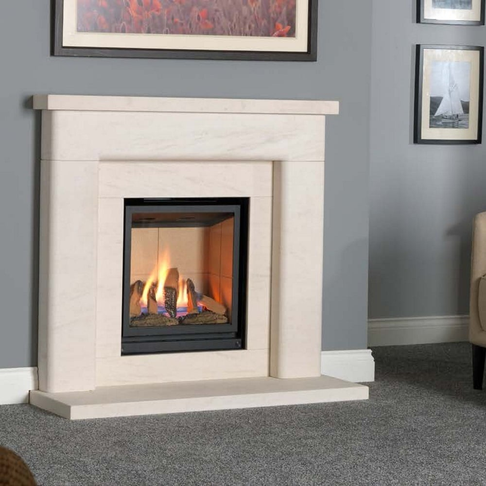 valor inspire 05500rcd1 500 inset gas fire with remote set in palermo portuguese limestone. Black Bedroom Furniture Sets. Home Design Ideas