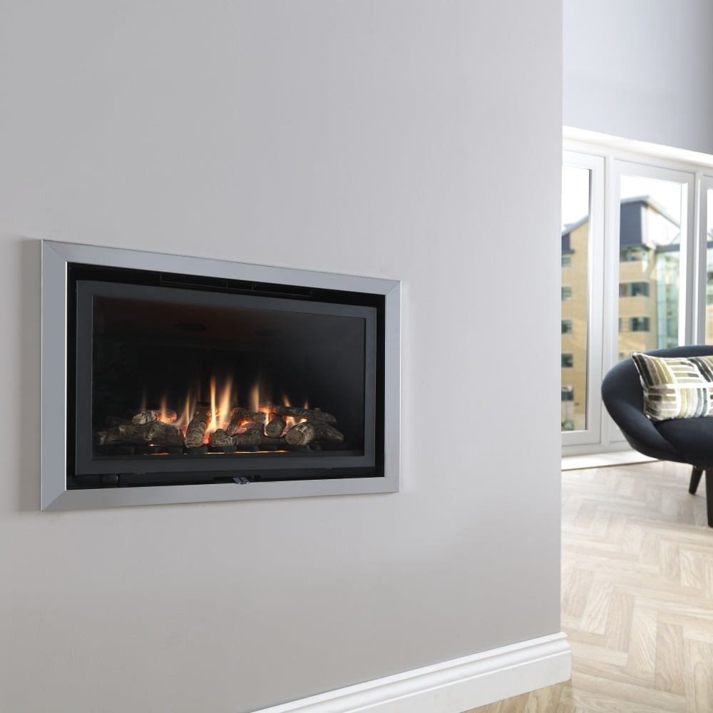 Valor Inspire 05600rc 600 Contemporary Inset Wall Mounted Gas Fire With Remote