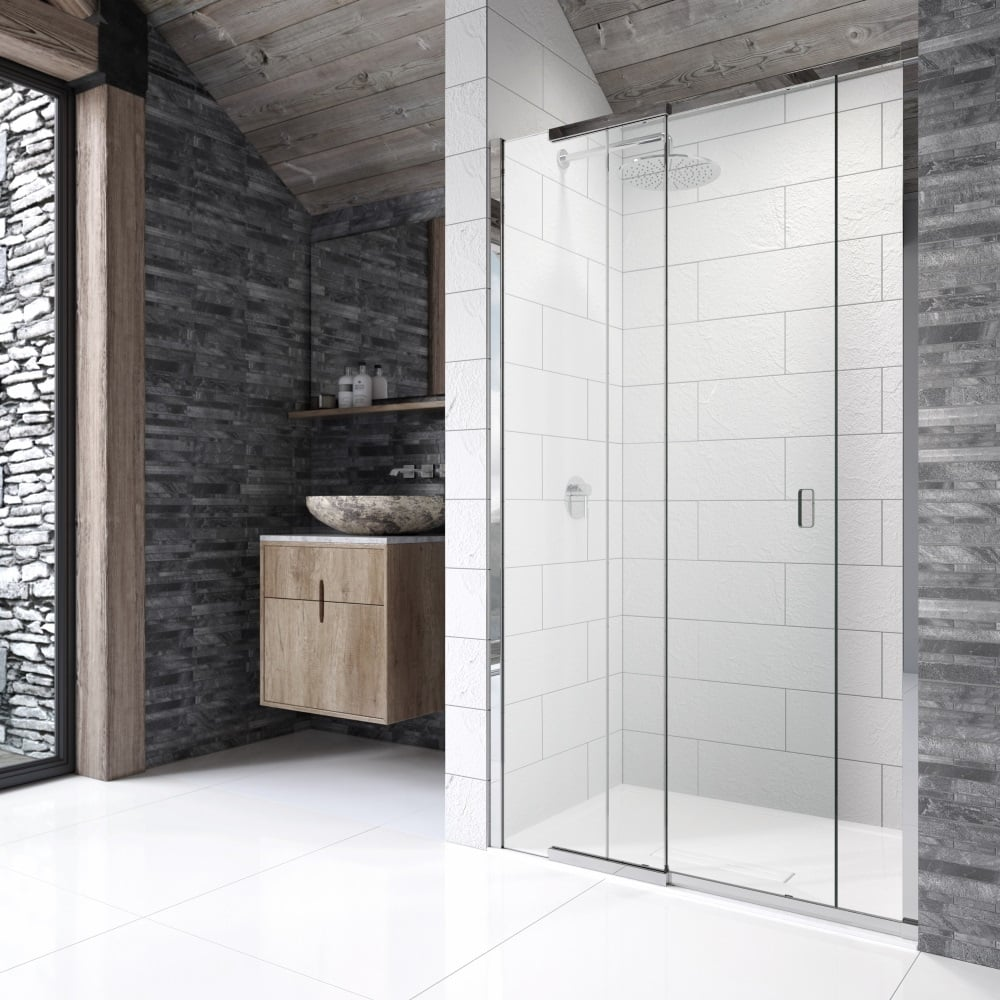 Kudos pinnacle 8 p8sr100 1000mm sliding shower door for for 1000mm shower door