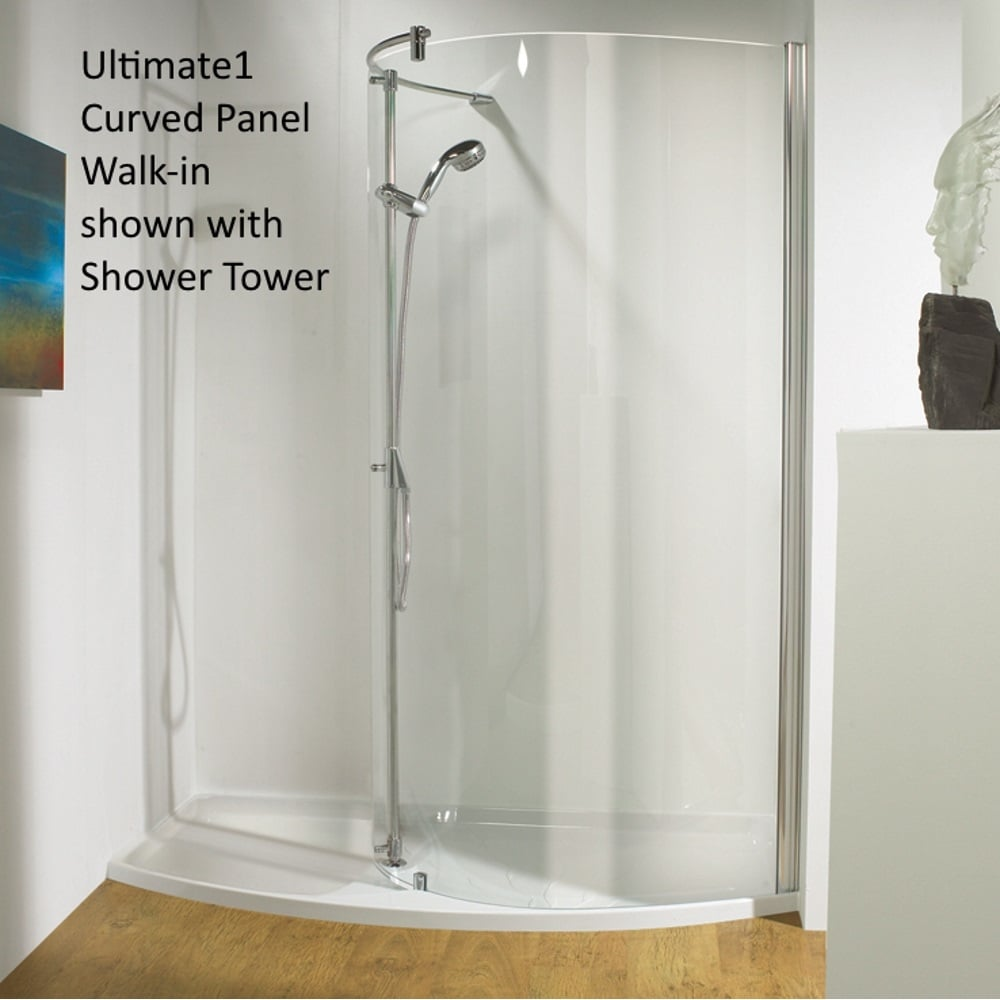 Kudos Ultimate 1 3WiRLHNV17 Pack 1700mm Left Hand Curved Recess Walk ...