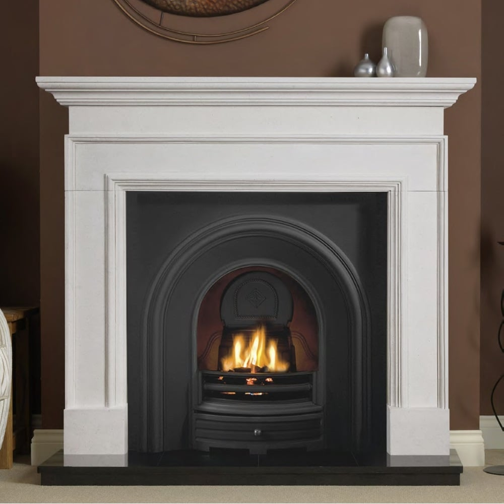penman cortese 56 inch fireplace surround in agean limestone