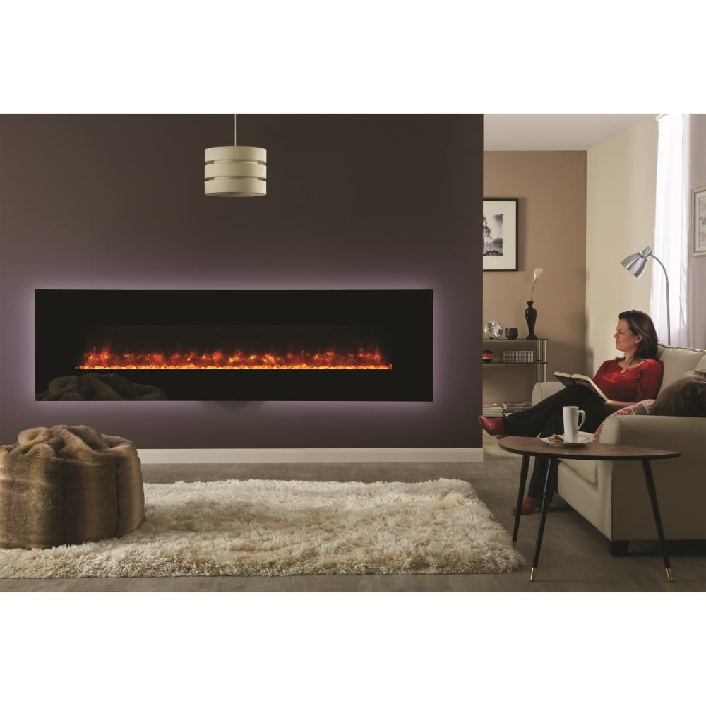 gazco radiance 190w wall mounted electric glass fronted fire