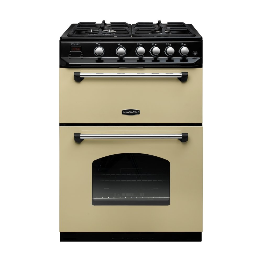 rangemaster clas60ngfcr c classic 60 range cooker in cream. Black Bedroom Furniture Sets. Home Design Ideas