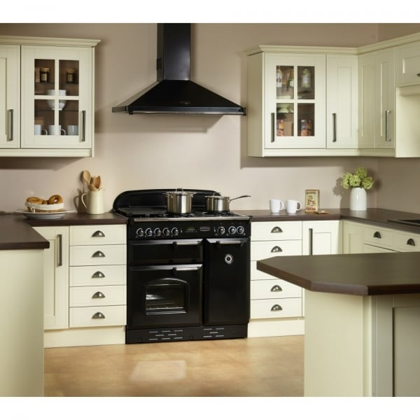 ... Rangemaster Classic 90 Electric Induction Range Cooker CLAS90EIBL/C    Black With Chrome Fittings ...
