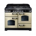 Classic Deluxe 110 Dual Fuel Range Cooker CDL110DFFCR/C - Cream With Chrome Trim
