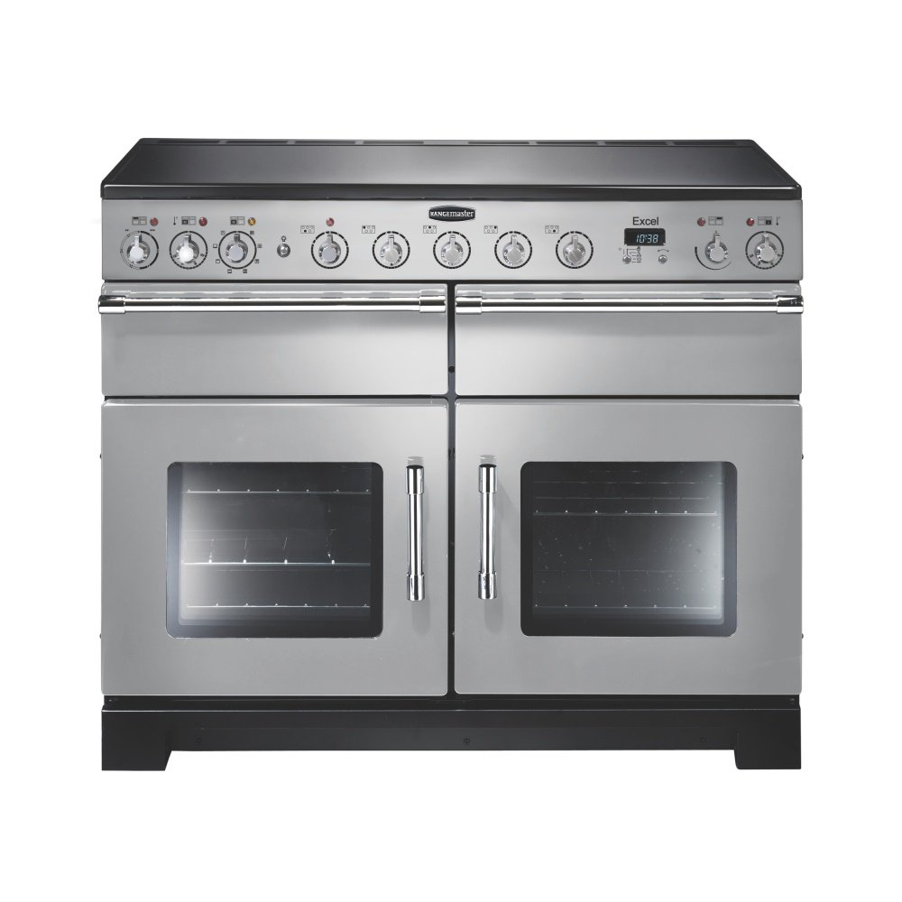 excel 110 induction electric range cooker exl110eisi c. Black Bedroom Furniture Sets. Home Design Ideas
