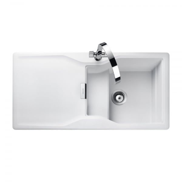 Rangemaster magma sink mag1051 cw 1 0 bowl reversible in for German kitchen sinks
