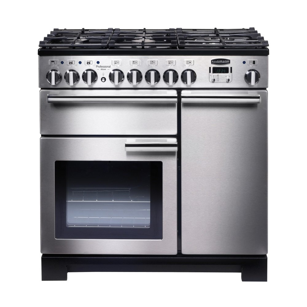 rangemaster proffesional deluxe 90 dual fuel range cooker. Black Bedroom Furniture Sets. Home Design Ideas